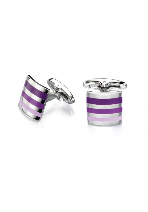 Purple Enamel Fred Bennett Cufflinks - Other Colours Available