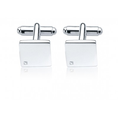 Silver and Diamond Fred Bennett Cufflinks