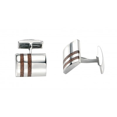 Silver & Wood Fred Bennett Cufflinks