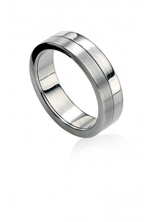 Brushed and Polished Ring