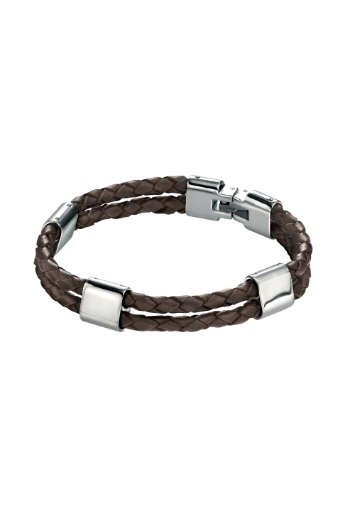 Double Brown Leather Bracelet - Other Colours Available