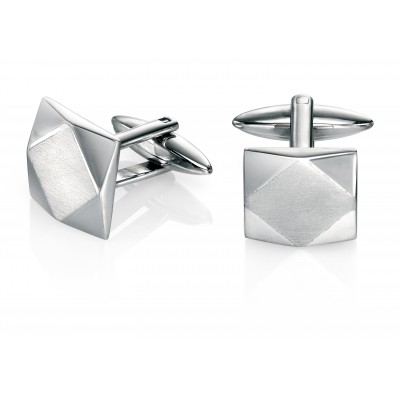 Shaped Brushed Fred Bennett Cufflinks