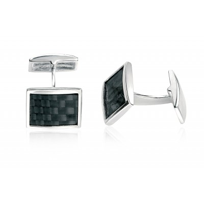 Silver and Black Fred Bennett cufflinks