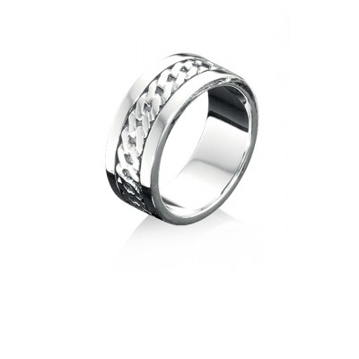 Silver Chain Design Fred Bennett Ring