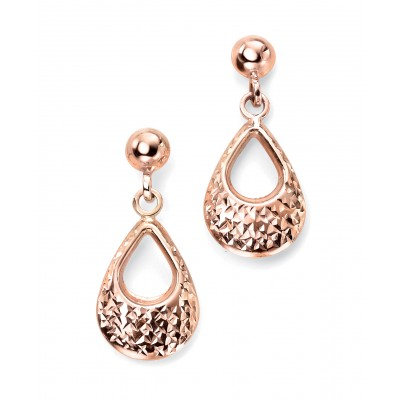 ROSE GOLD OPENWORK TEARDROP EARRINGS