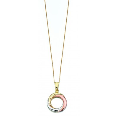 Open work Three-Tone Gold Pendant