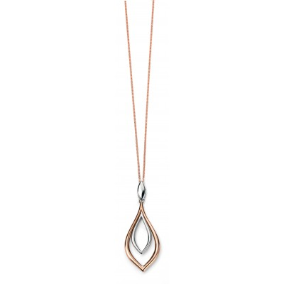TWO-TONE MARQUIS SHAPED PENDANT