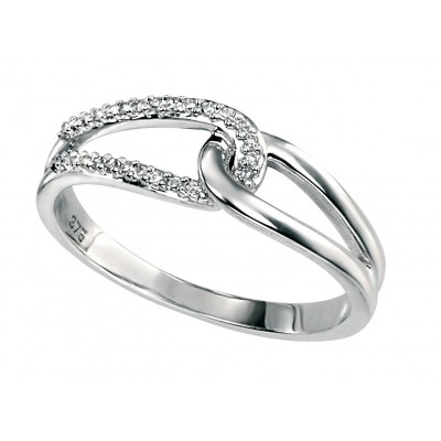 Crossover Diamond Ring