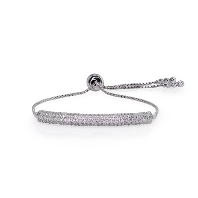 White Gold Finish Electra Bracelet