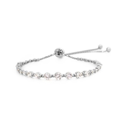 White Gold Finish Grace Bracelet
