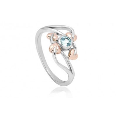 Love Vine Aquamarine Ring