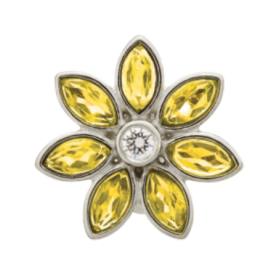 Large Citrine Flower - Many Colours Available