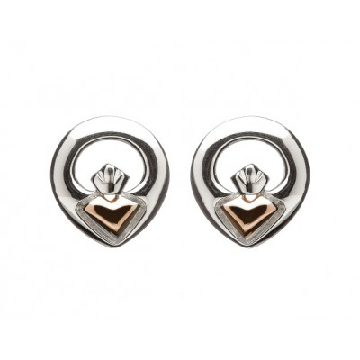 Eeva Stud Claddagh Earrings