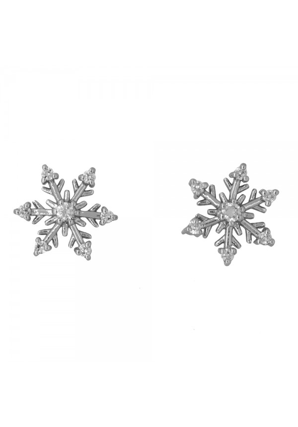 jools earrings cz snowflake stud earrings
