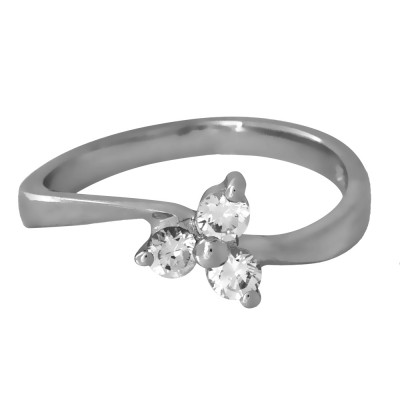 Dainty CZ Three Stone Ring