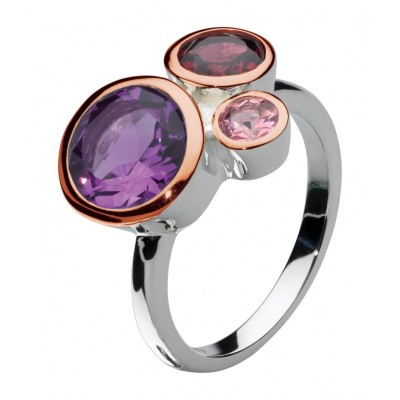 Purple Cascade Ring