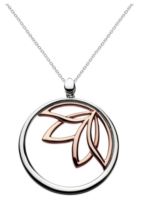 Queen Rose Gold Plated Large Lotus Necklace