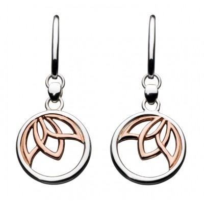 Rose Gold Lotus Drop Earrings