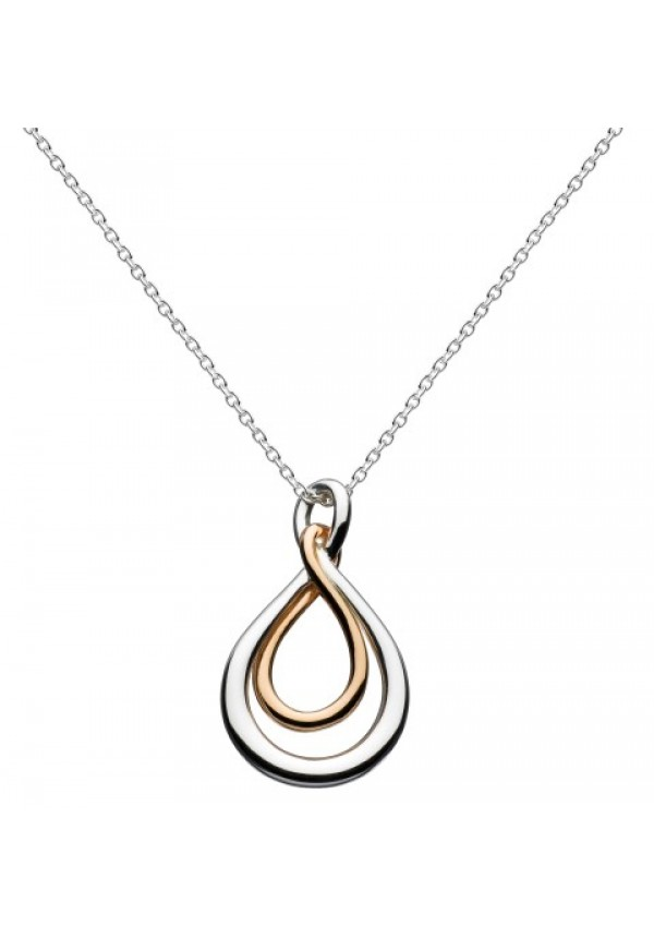 Rose Gold Plated Small Infinity Necklace