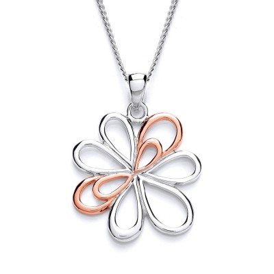 Two-Tone Flower Pendant