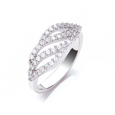 Wave CZ Ring