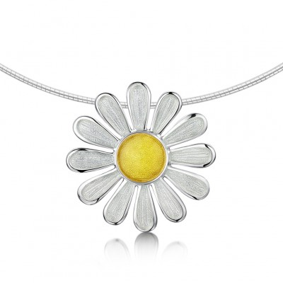 Daisy Pendant On Wire