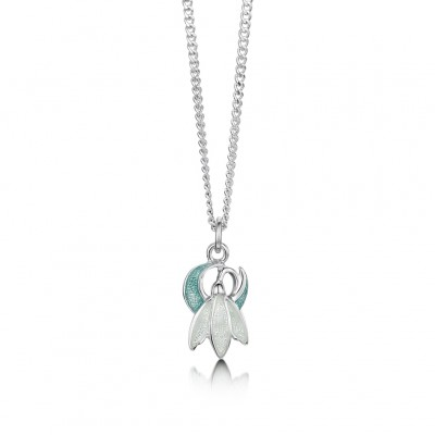 Snowdrop Pendant on Chain