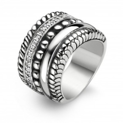 Chunky Multi-banded CZ Ring