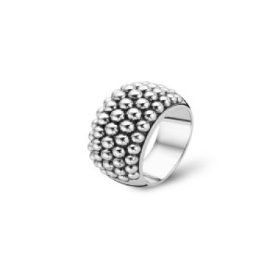 CHUNKY SILVER BOBBLE RING