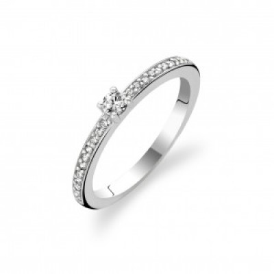 CZ Single Stone Stacking Ring