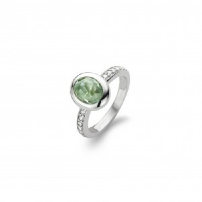 Emerald Green Synthetic Crystal Ring
