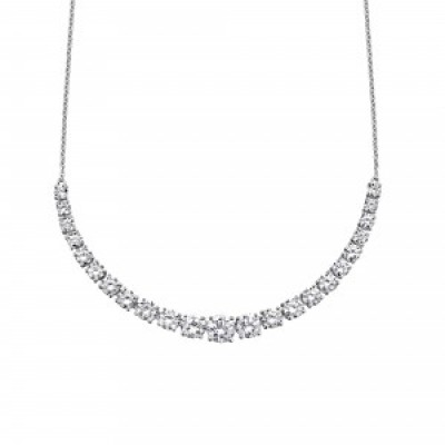 Graduated CZ Necklace