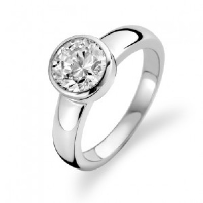 Large Rim Set CZ Ring
