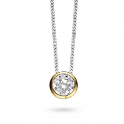 Yellow Gold Plated CZ Pendant