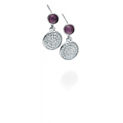 AMETHYST AND PAVĒ DROP EARRINGS