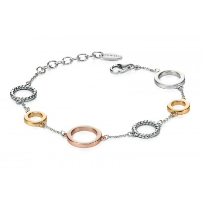 Clever Twist Three Tone Bracelet