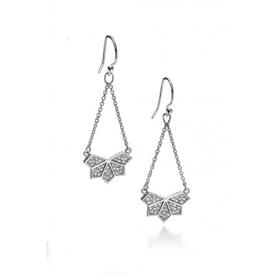 CZ Drop Chain Earrings