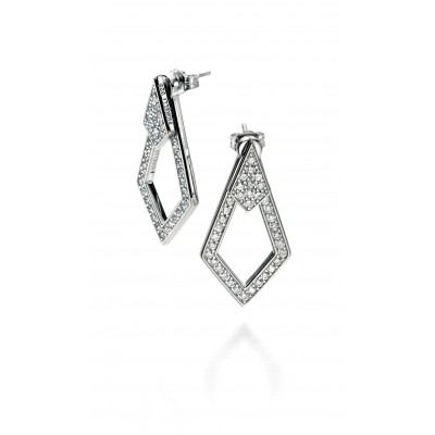 CZ Front & Back Earrings