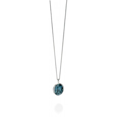 Deep Blue Crystal Pendant