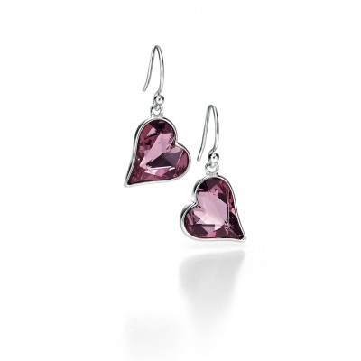 Heart Swarovski Crystal Earrings