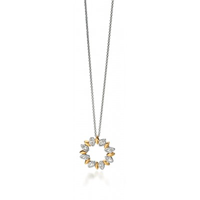 Marquis and CZ Openwork Necklace