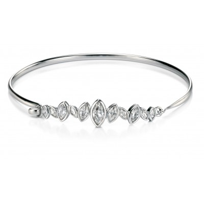 Marquis Shaped CZ Bangle