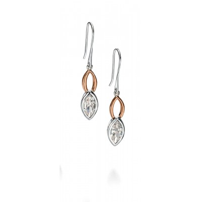 Marquis Shaped CZ Drop Earrings