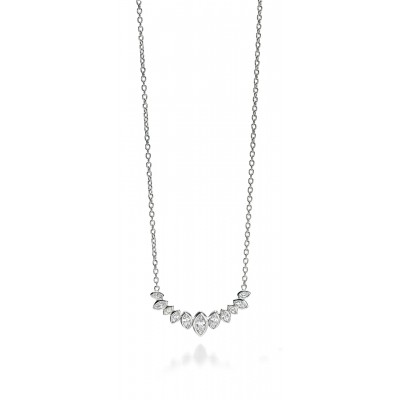 Marquis Shaped CZ Necklace