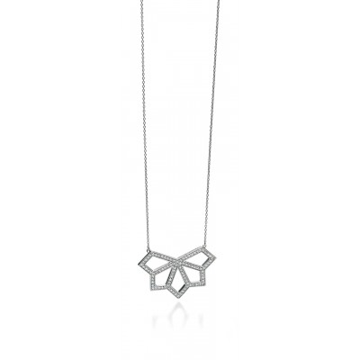 Openwork CZ Triangles Necklace