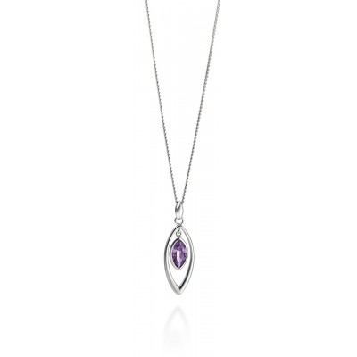 Purple Marquis Shaped Necklace