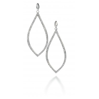Pavé set CZ Large Teardrop Earrings
