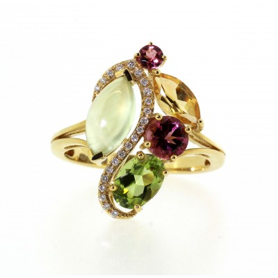 FANCY MULTI STONE DRESS RING