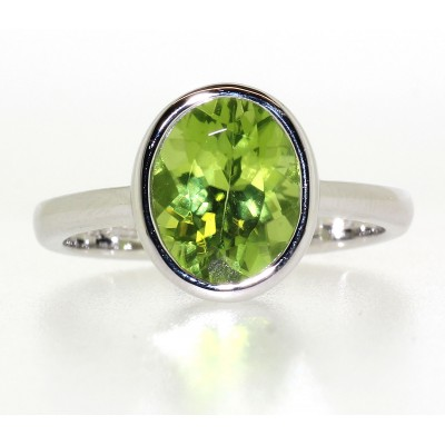 RIM SET PERIDOT RING