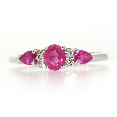 SEVEN STONE RUBY AND DIAMOND RING
